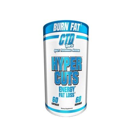 CTD Sports Hyper Cuts Grasa Energía La pérdida de grasa quemador 60 Cápsulas
