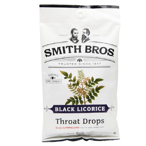 Smith Bros garganta gotas, negro regaliz 30 ea (paquete de 3)