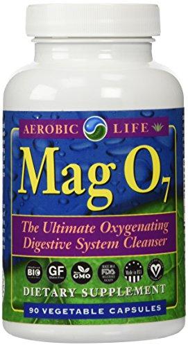 Aerobias vida Mag O7 - el último oxigenante limpiador del sistema digestivo, 90 cápsulas