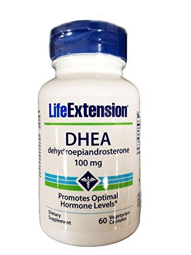 Vida extensión, DHEA 100 Mg cápsulas vegetarianas, 60-Conde