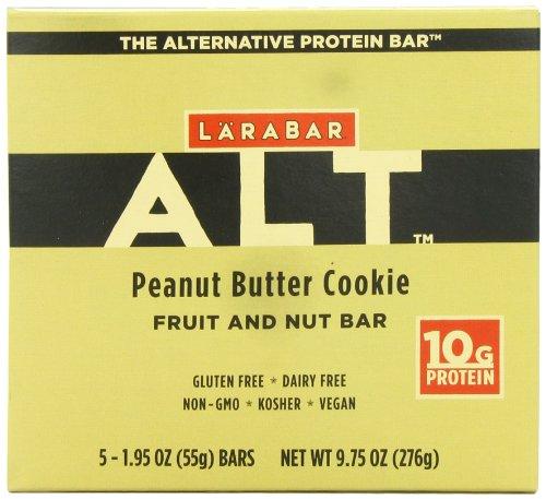 Larabar Alt frutas libre de Gluten y tuerca proteína Bar, galletas de mantequilla de maní, barras 1.95 5 onzas