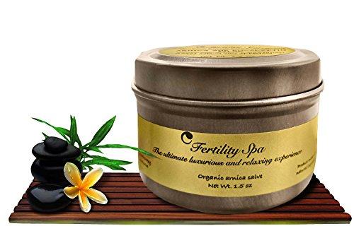Fertilidad Spa - orgánica árnica y lavanda Salve - 1,5 oz Arnica Salve la forma Natural de curación