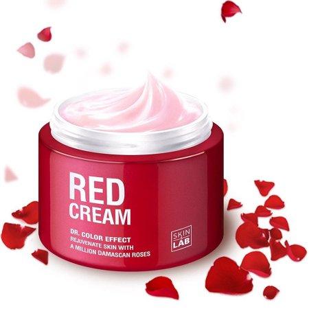 La piel de la piel Cuidado de Corea contra el envejecimiento Vitamina C Crema de noche con rosas de damasco y ácido hialurónico
