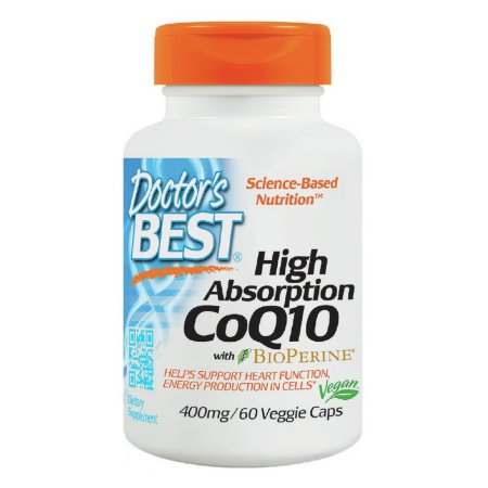Alta absorción CoQ10 (400 mg) w - Bioperine Doctors Best 60 VCaps