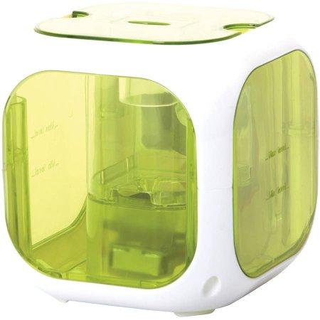 Healthsmart Cubo del compañero de vapor frío humidificador ultrasónico y difusor de aromaterapia, filtra gratuito, Verde