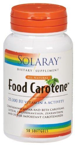 Solaray - pearle 50 cápsulas de betacaroteno alimentos, 25000 UI,