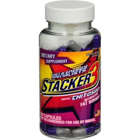 Stacker 3 con Fórmula efedra libre 100 Cápsulas x 4 frascos