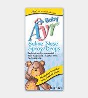 Ayr Baby Nasal Spray/gotas de solución salina, 1 oz