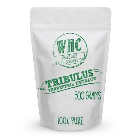 Tribulus terrestris en polvo 500g (833 Porciones) | Extracto Puro 45% saponinas esteroides | La testosterona Booster potente |