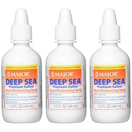 Major Productos farmacéuticos Deep Sea genérico para Ocean nasal spray hidratante 15 oz 3 Conde