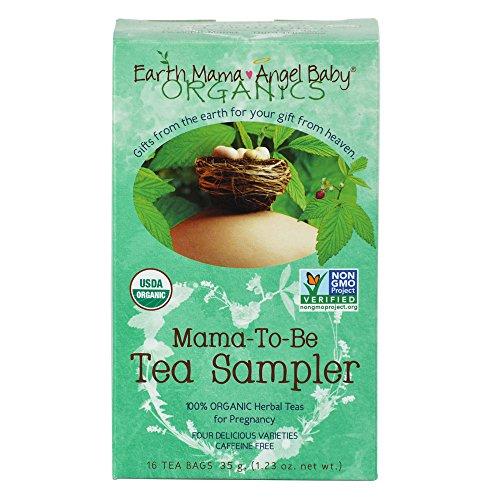 Mama tierra Ángel bebé té de Mama-ser orgánico Sampler, 16 bolsitas de té/caja (Pack de 3)