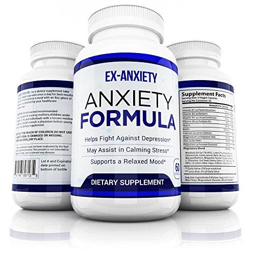 Pastillas de ansiedad natural Anti estrés Mood Enhancer depresión suplemento Made in USA - calma la depresión y sentimientos ansiosos - Anti ansiedad suplemento hombres mujeres niños