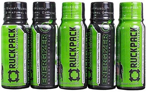 RuckPack Energizer energía Nootrópicos (15pk de asalto) con cafeína 3oz