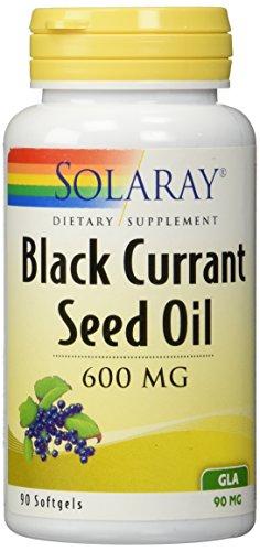 Aceite de semilla de grosella negra libre de hexano de Solaray Gla, 90 mg, cuenta 90