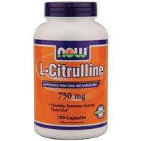 Ahora alimentos L-citrulina 750 mg - 180 cápsulas Pack 4
