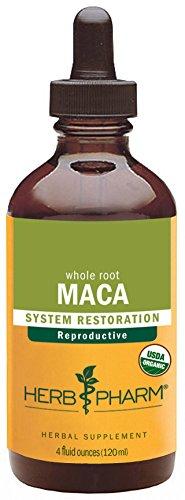 Hierba Pharm certificado Maca Orgánica de Libido Sexual saneada, la función y la fertilidad - 4 onzas