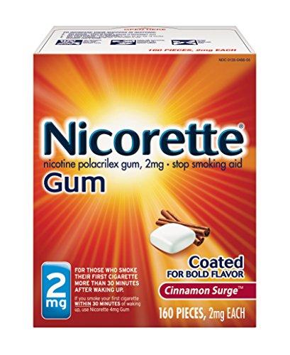 Miligramo de nicotina de Nicorette chicles canela oleada 2 cuenta dejar de fumar ayuda 160