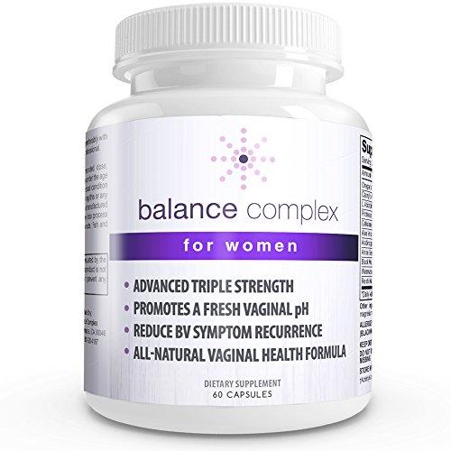 Suplemento dietético de equilibrio complejo salud Vaginal, 60 cápsulas
