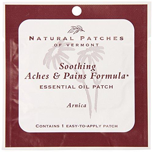Naturopatch de Vermont árnica para dolores y dolores aromaterapia cuerpo parches solo Sachet (paquete de 6)