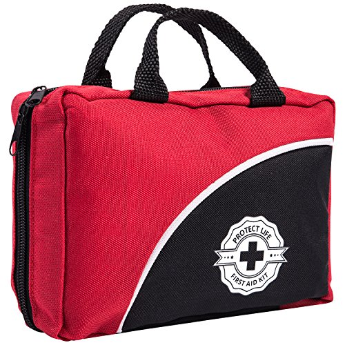 Primeros auxilios Kit 115 piezas para coche, hogar, viajes, oficina o deportes | Emergencia y supervivencia bolsa completamente equipada con suministros médicos de alta calidad