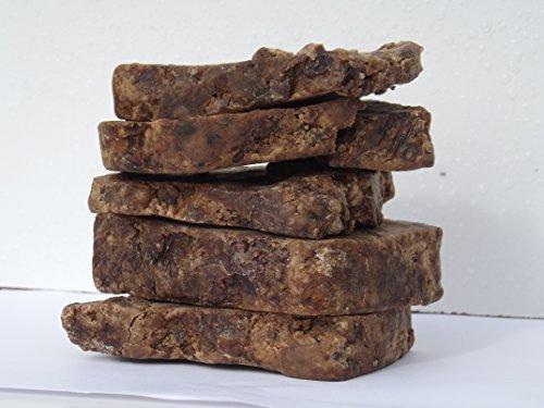 Negro africano jabón crudo orgánico Natural puro 1lb 16oz