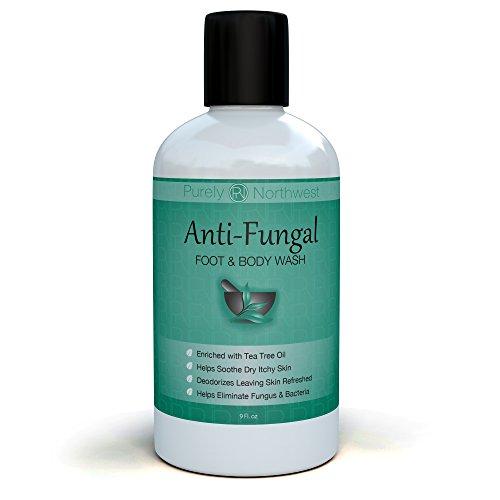 Jabón antimicótico con aceite del árbol del té, ayuda a tratar y lavado atletas a pie, tiña, uñas hongos, sarna, mal olor corporal y acné. Defensa antibacteriana contra bacterias y hongos comunes relacionados con irritaciones de la piel 9oz.