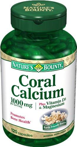 Generosidad de la naturaleza Coral calcio más vitamina D3 y magnesio, 1000mg, 120 cápsulas