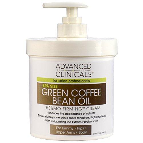 Crema de Aceite de grano verde de café termo reafirmante 480ml