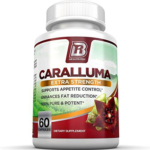 BRI nutrición Caralluma Fimbriata - suplemento de fuerza máxima de extracto 20:1 - hechos de puro indio Caralluma Fimbriata - 30 días suministro ct 60 vegetales cápsulas
