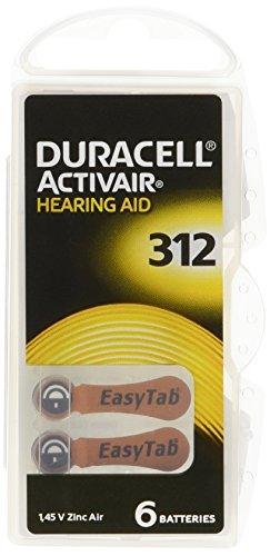 Pilas de Duracell audífono baterías tamaño 312 pack 60