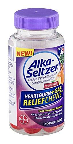 Alka-Seltzer Antacid Heartburn + Gas Relief Chews 32 Masticables 3 frascos