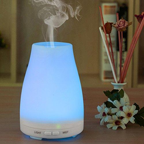 Amir esenciales aceite difusor ultrasónico vapor frío humidificador - luces de Color - sin agua apagado automático