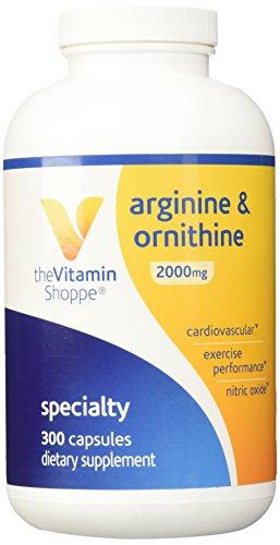 Vitamina Shoppe - L-arginina-ornitina (Super fuerza), 2000 mg