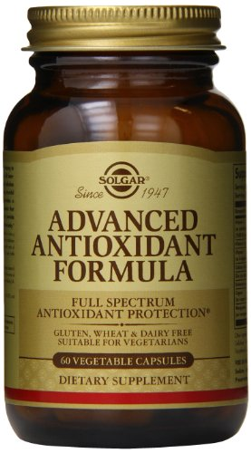 Solgar avanzado cápsulas vegetales fórmula antioxidante, cuenta 60