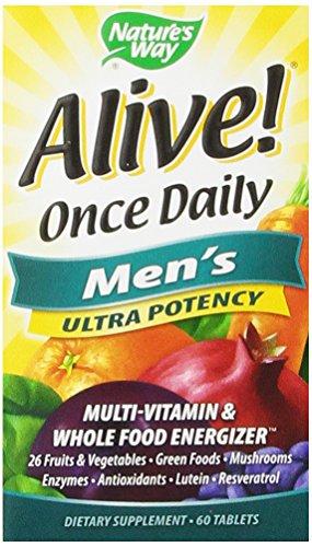 De la naturaleza camino vivo una vez Multi Ultra potencia diaria hombres, tabletas, 60-Conde