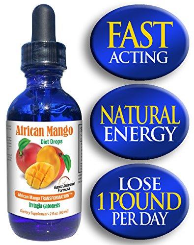 Gotas de dieta de Mango Africano   1200 mg complejo de Mango Africano (Irvingia Gabonensis)   2 oz Mango Africano peso pérdida gotas   60 porciones   Absorbe hasta 3 X más rápidamente que las píldoras