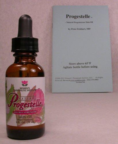 Aceite de Progestelle progesterona más pura que la crema de progesterona, sin conservantes, bioidénticas, Natural, tópico - sin fragancia, sin emulsionantes y folleto-primer temporizadores 1oz 800 mg/oz doble resistencia