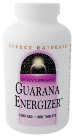 Source Naturals - Guarana Energizer, 900 mg, 200 tabletas