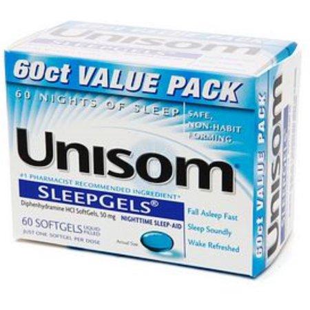Unisom SleepGels 60 Caps (paquete de 3)