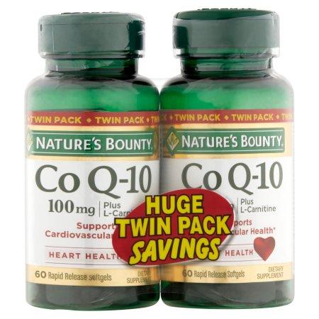Nature's Bounty Q-Sorb Co Q-10 Plus Suplemento dietético cápsulas blandas, 100 mg, 60 unidades, (Pack de 2)