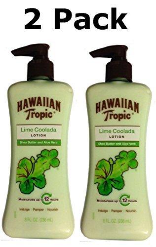 Hawaiian Tropic Lime Coolada crema con manteca de karité y Aloe Vera, 8 Fl Oz (2 Pack)