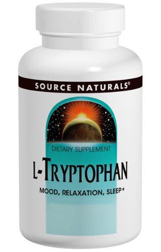 L-triptófano 500 mg 60 Tabs, Source Naturals