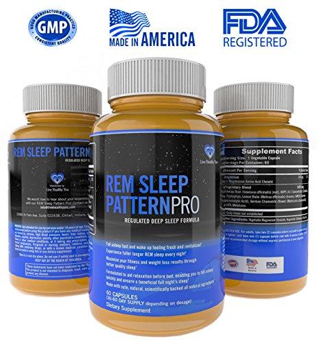 Sueño REM PatternPro hábito no formando ayuda para dormir para adultos sueño Natural ayuda suplementos Balance horario de sueño con revitalizante fórmula del sueño - dormir rápido y permanecer dormido sueño ayuda