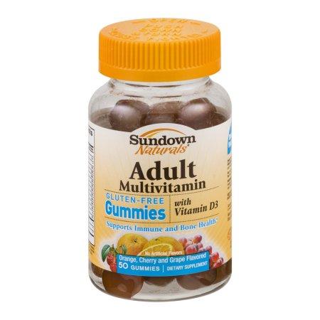 Sundown Naturals multivitaminas para adultos con vitamina D3 Gummies sin gluten - 50 CT