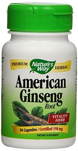 Forma Ginseng de la naturaleza, americano, 50 cápsulas