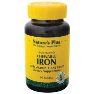 De la naturaleza más - hierro masticable con vitamina C, 90 tabletas masticables