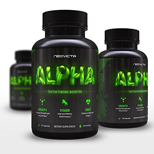Mejor testosterona - suplemento de mejora masculina Natural para aumentar de tamaño, energía, fuerza y la Libido - alfa por Neovicta - pastillas orgánicas - un complejo anabólico seguro, profesional de la fuerza - brinda anti-estrógenos y SIDA hígado y ri