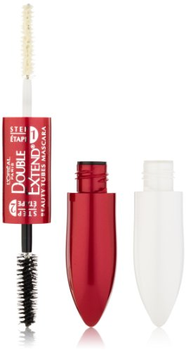 L ' Oreal Paris doble extender belleza tubos rímel, negro, fluido de 0.17 onzas