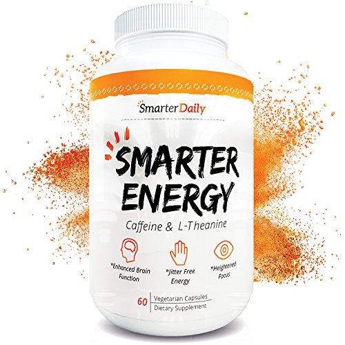 Cafeína 100mg y L-teanina 200mg - energía y foco - 60 pastillas - Salud Mental Nootropic suplemento - todos los ingredientes naturales, puros - vuelta tiempo completo cerebro niebla en función cerebral positivo