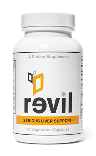 Revil - soporte hepático grave y desintoxicación hepática (con orgánica leche de cardo, seta de Reishi orgánico, NAC)